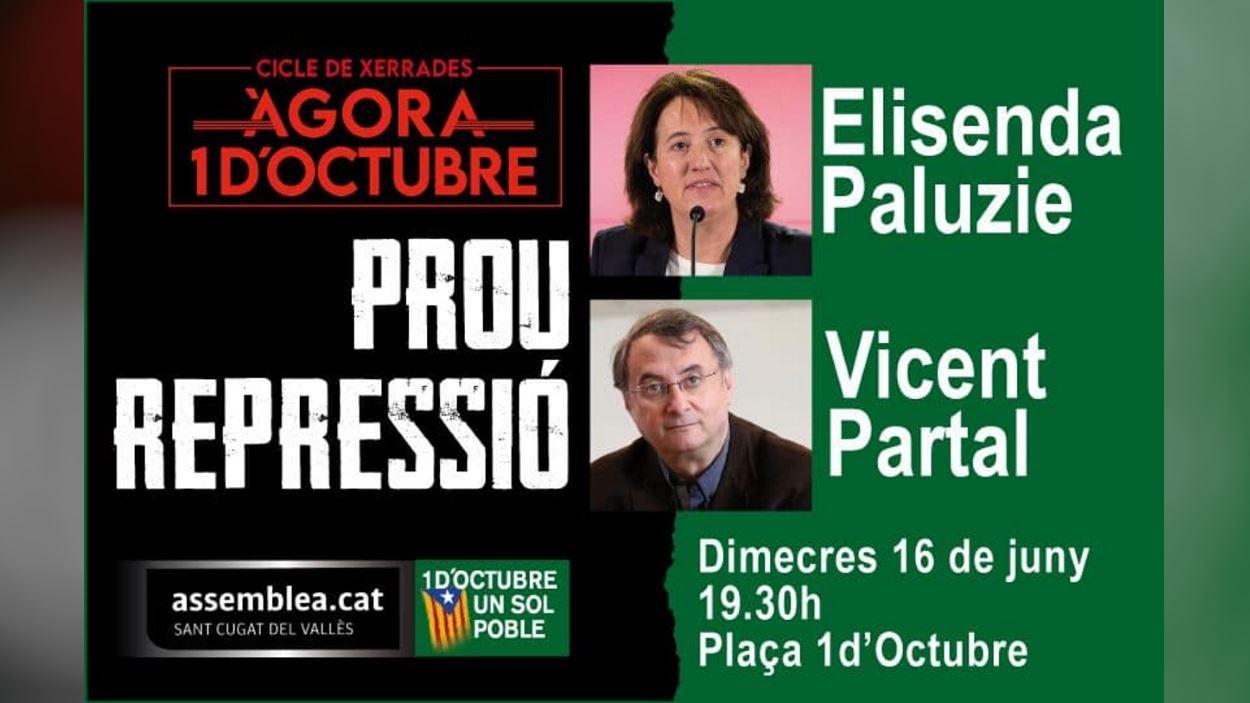Cicle de xerrades 'Àgora 1 d'octubre': Elisenda Paluzie i Vicent Partal
