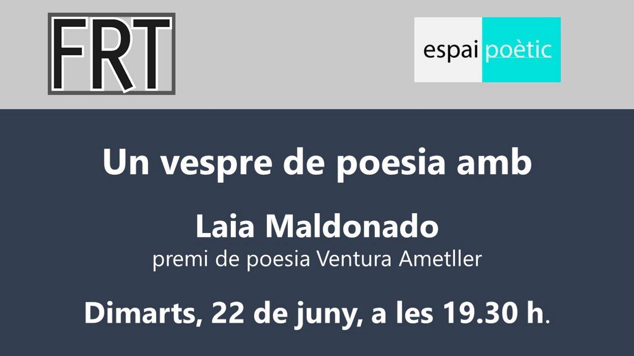 Espai Poètic: Un vespre de poesia amb Laia Maldonado