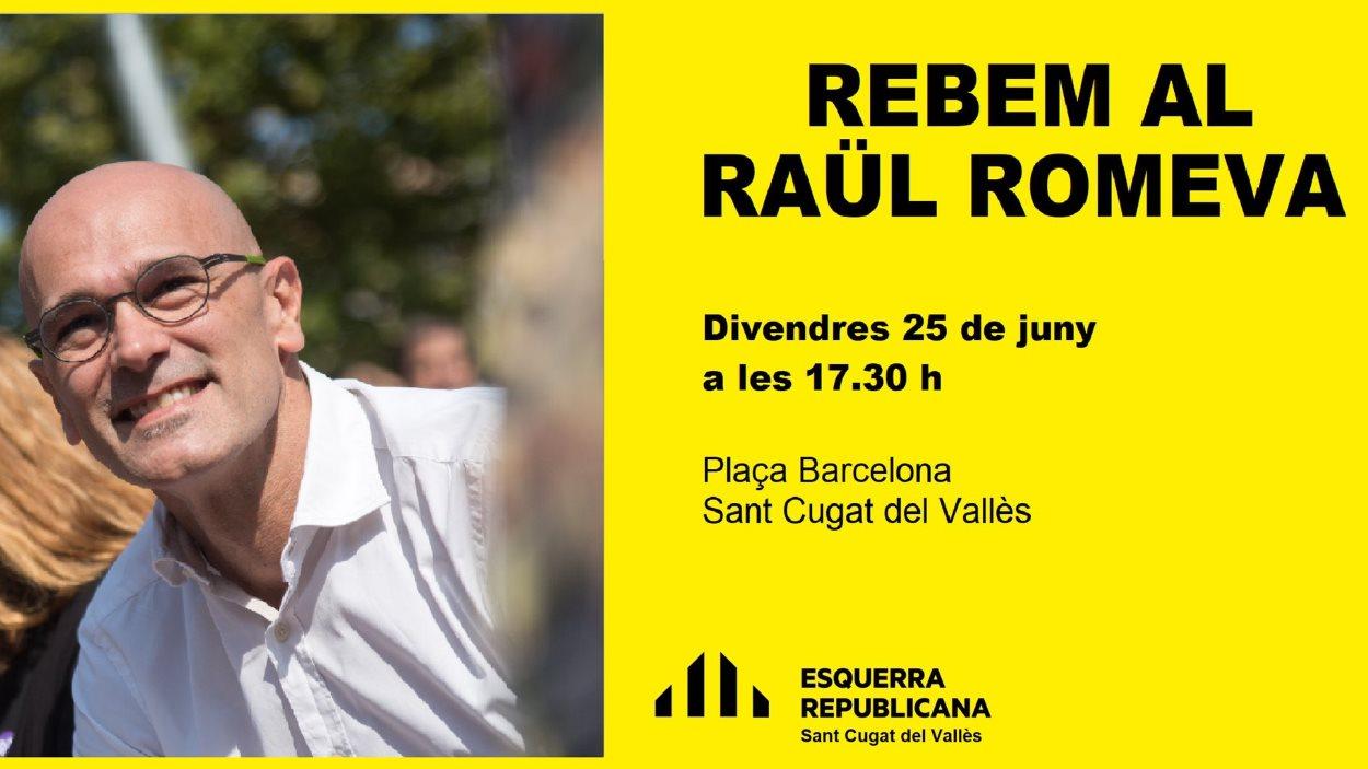 Acte (ERC Sant Cugat): 'Rebem al Raül Romeva'