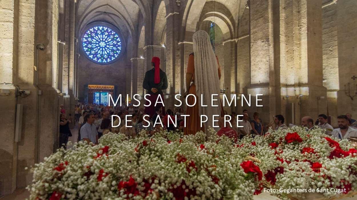 Missa solemne de Sant Pere