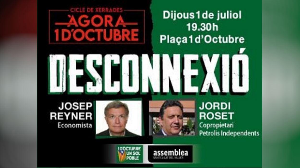 Cicle de xerrades 'Àgora 1 d'octubre': Josep Reyner i Jordi Roset
