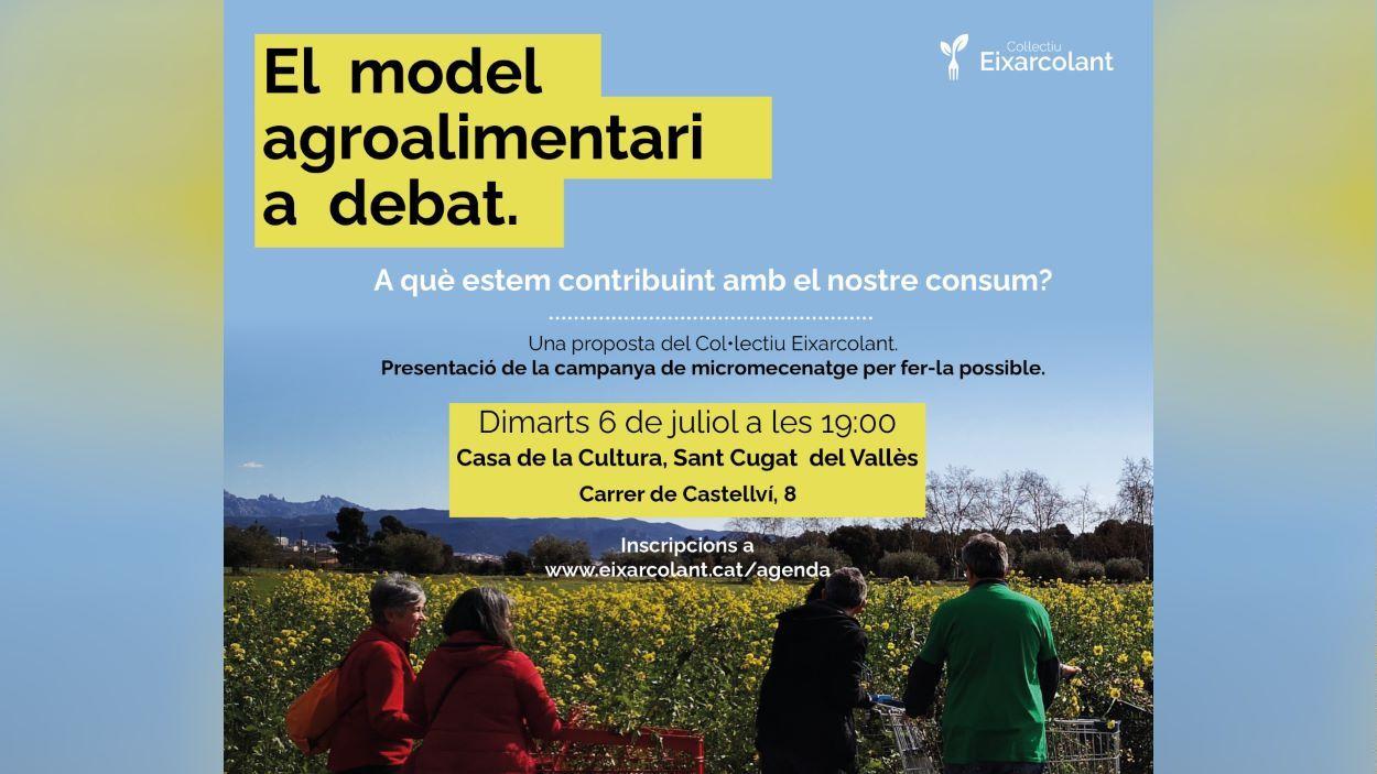 Conferència: 'El model agroalimentari a debat. A què estem contribuint amb el nostre consum?'