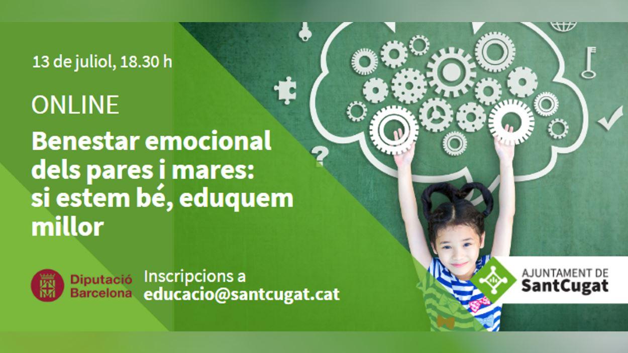 ONLINE - Curs: 'Benestar emocional dels pares i mares: si estem bé, eduquem millor'