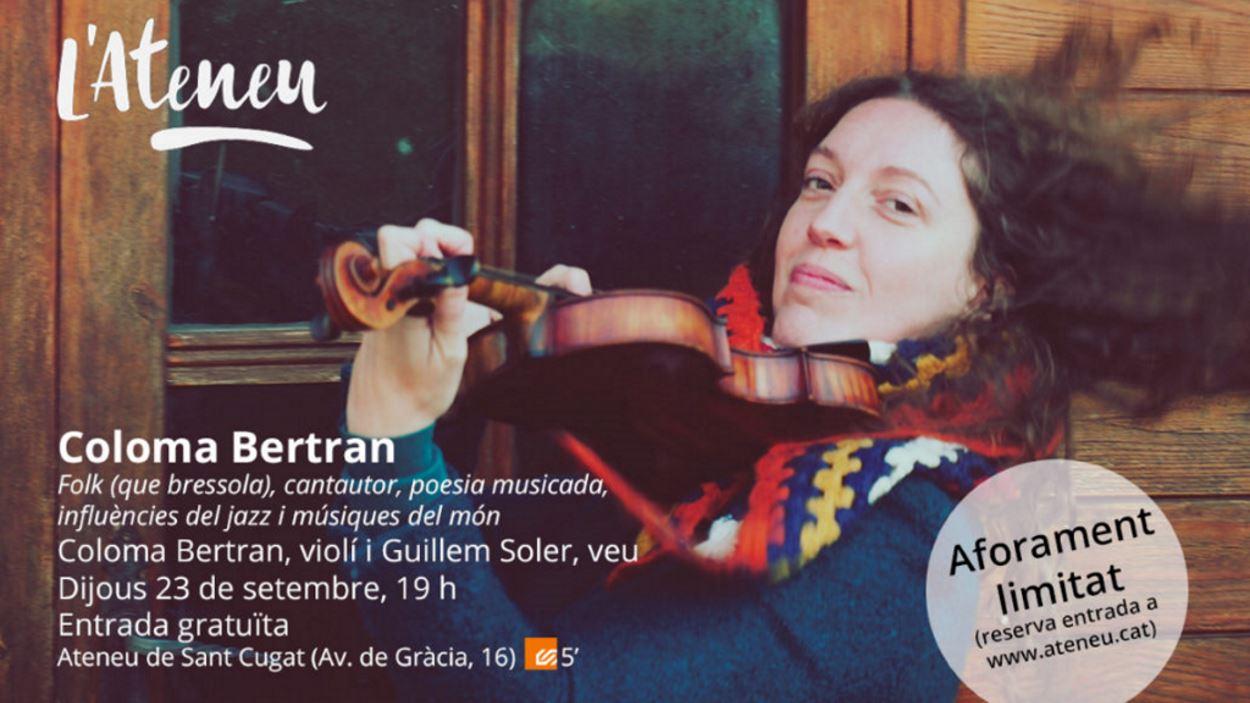 Concert 'La Cambra de l'Ateneu': Coloma Bertran