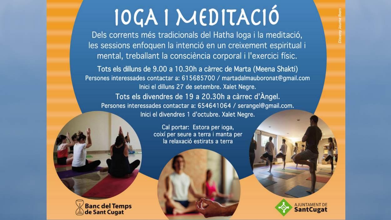 Inici sessions: Ioga i meditació (grup dilluns)