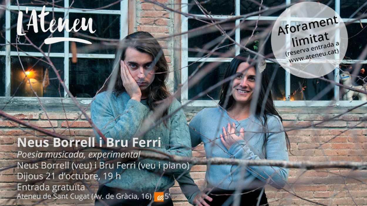 Concert 'La Cambra de l'Ateneu': Neus Borrell i Bru Ferri