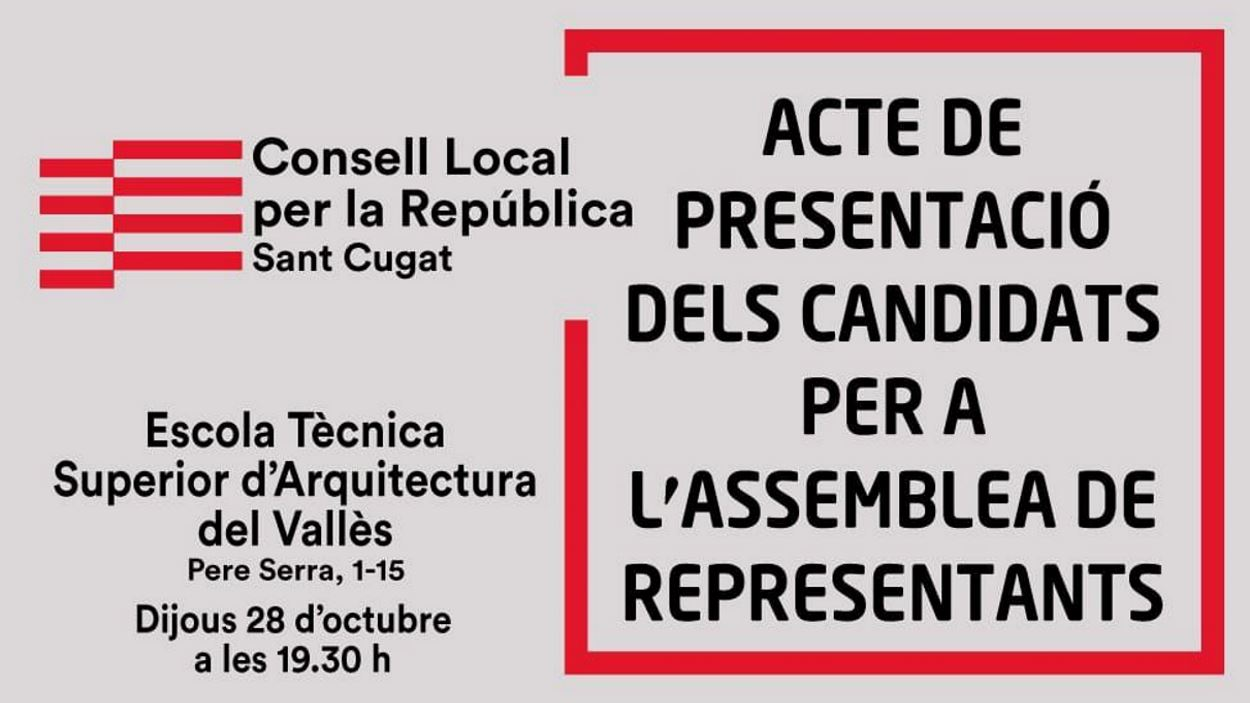 Acte polític (Consell per la República): Presentació candidats per a l'Assemblea de Representants