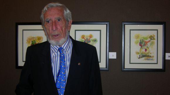Els '80 dibuixos' d'Aguilar Moré posen color a la Sala Rusiñol