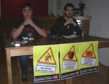 L'AJSC inicia una campanya de denúncia del capitalisme