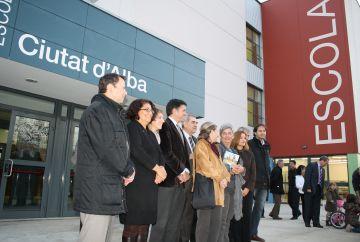 Inaugurada oficialment l'escola Ciutat d'Alba pel conseller d'Educació i l'alcalde