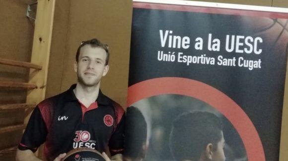Albert Garcia és el nou entrenador del sènior b de la UESC / Font: UESC