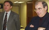 L'alcalde Lluís Recoder amb el president de l'ACM, Joan Maria Roig