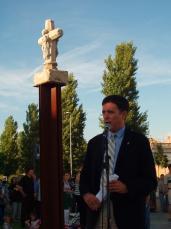 L'alcalde va ser l'encarregat de llegir el discurs institucional.
