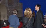 L'alcalde Lluís Recoder en la visita que ha fet al Monestir dels Infants