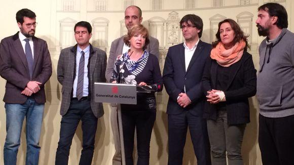El govern, amb els consistoris investigats pel suport a la resolució sobiranista
