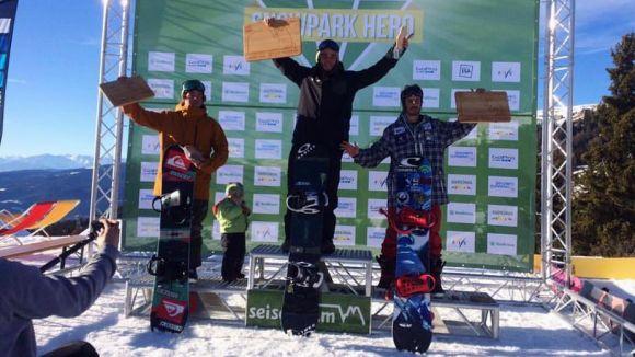 L'snowboardista Aleix López guanya una prova de la Copa d'Europa a Itàlia