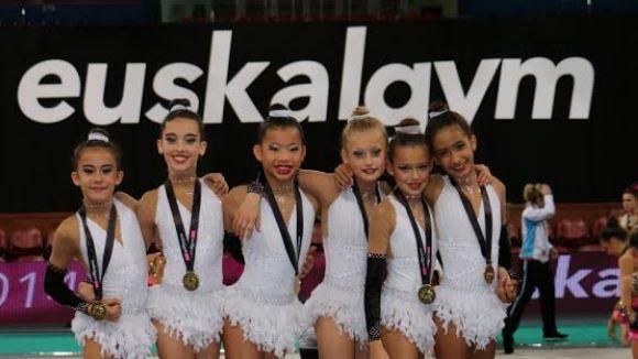 L'aleví 7 del Gimnàstica Sant Cugat acaba en primera posició a l'Euskalgym