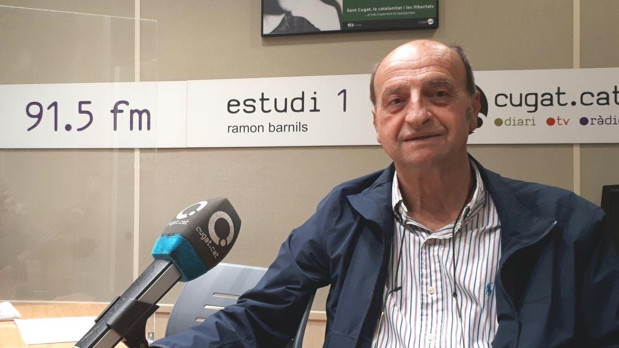 Alfredo Arechavala, als estudis de Ràdio Sant Cugat / Foto: Cugat Mèdia