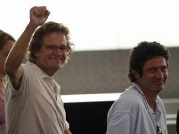 Roque i Vilalta a l'arribada a l'aeroport de Barcelona / Font: www.3cat24.cat