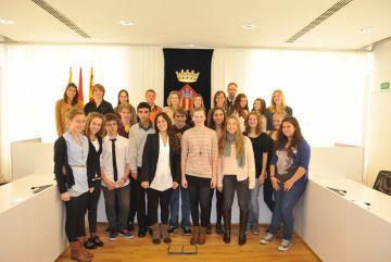 Una delegació d'alumnes alemanys visita l'escola Europa