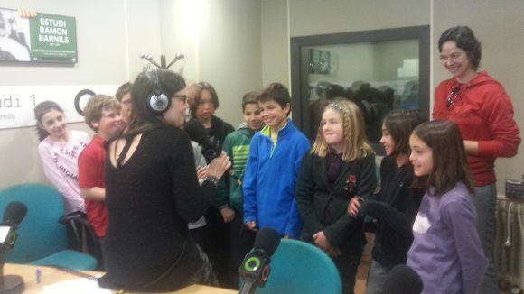 Alumnes de l'escola Ciutat d'Alba han passat per la ràdio