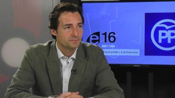 El portaveu del PP, Álvaro Benejam