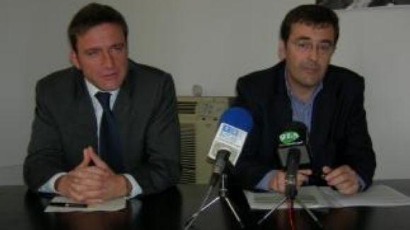 Xavier Amador, a l'esquerra, i Joan Recasens en imatge d'arxiu