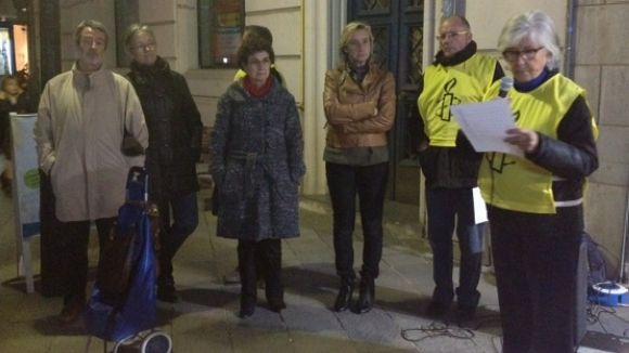 La lectura d'un manifest ha servit per expressar els motius del rebuig contra la pena de mort
