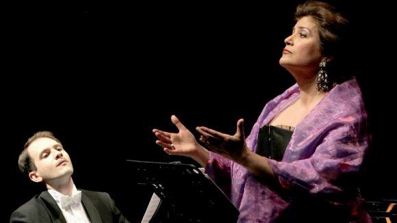 Ana Häsler en un concert amb Paul Bowles / Font: Tanger.cervantes.es