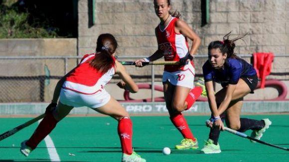 Anna Gil durant un partit amb el Junior / Font: Enrico Hockey