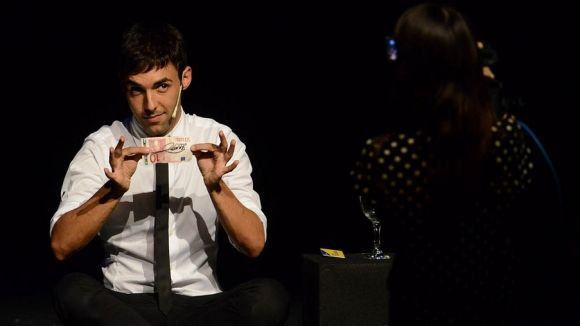 Antonio Díaz en un moment de l'espectacle / Foto: localpres