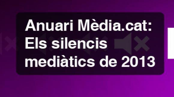 Mèdia.cat busca fons per a l'anuari amb els silencis mediàtics del 2013