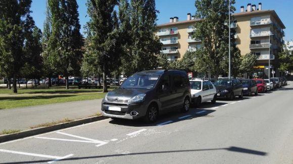 L'àrea verda d'aparcament entrarà en servei el 30 d'abril en cinc barris de Sant Cugat