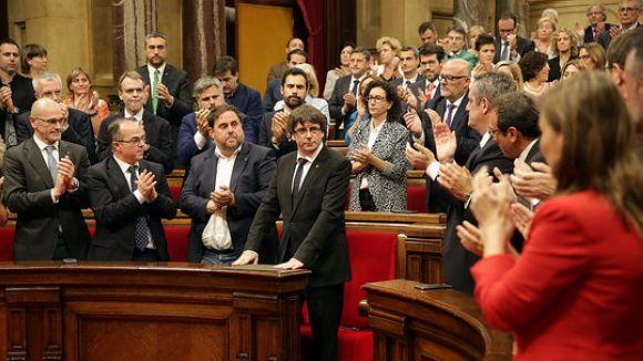 Puigdemont rep aplaudiments / Foto: ACN