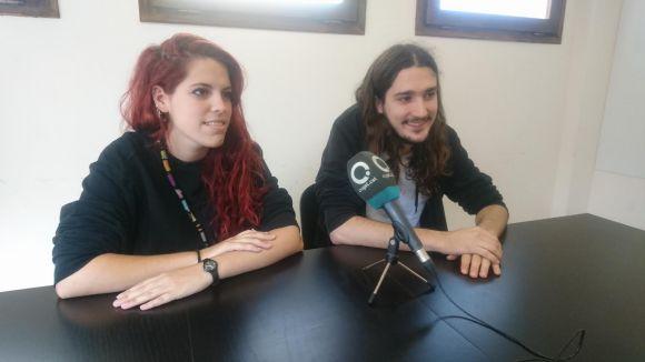 Els integrants de l'Aplec Jove Núria Ribalaiga i Andreu Massafret