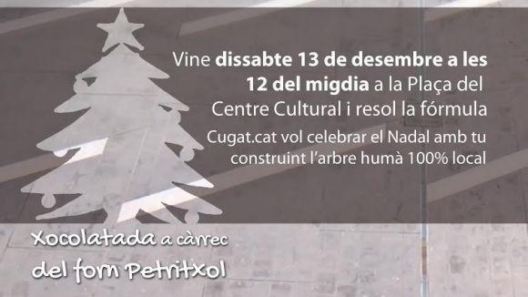 Cugat.cat organitza la gravació d'un arbre de Nadal humà el dissabte de la setmana que ve