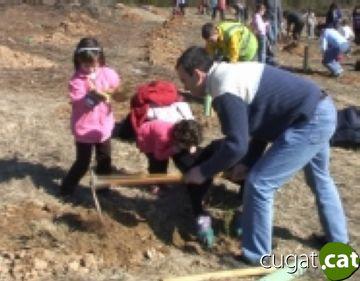 El Turó de Can Camps ja té 800 arbres nous més