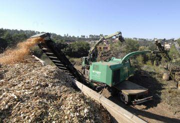 Comença la retirada dels arbres caiguts al Turó d'en Lluch