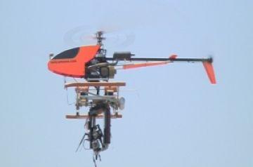 Un dels aparells que es fan volar a la pista del club