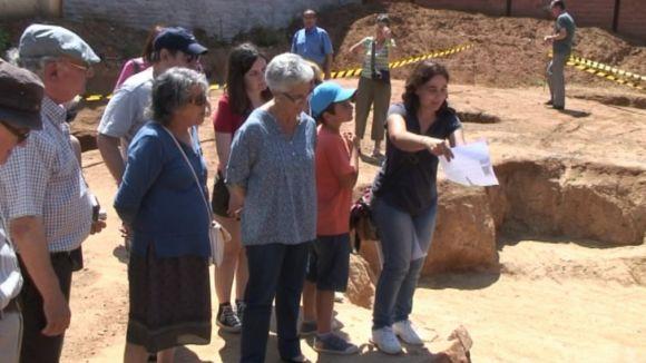 Mostren les últimes restes arqueològiques trobades abans de tapar-les