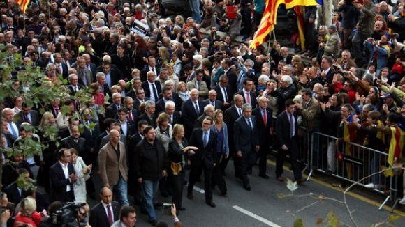 Suport del món local a Artur Mas per la imputació del 9N