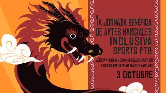 Cartell de la jornada inclusiva d'arts marcials Sports PTB / Font: Sports PTB