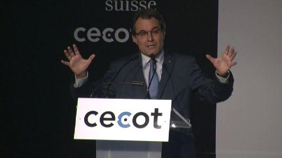El president de Cecot dóna suport al futur govern de Catalunya, mentre Mas demana respecte