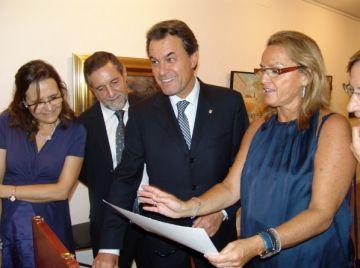 Artur Mas, a la mostra dels 25 anys de la Sala Rusiñol