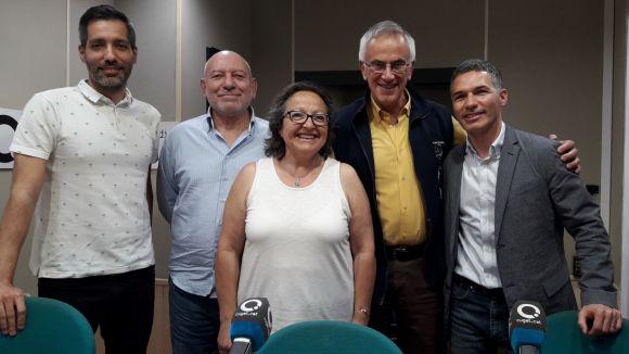D'esquerra a dreta: Guillem Pérez, Antoni Pérez, Carme Reverte, Santi Formiguera i Francesc Marzà