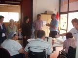La presidenta de l'EMD, Montse Turu, ha visitat avui les instal·lacions d'ASDI a Valldoreix.