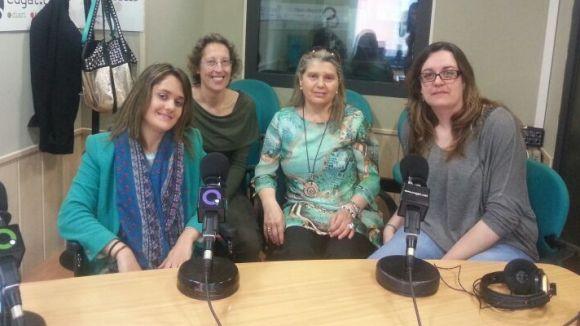 Les protagonistes d'aquest dilluns al matí al 'Sant Cugat a fons' després de l'entrevista