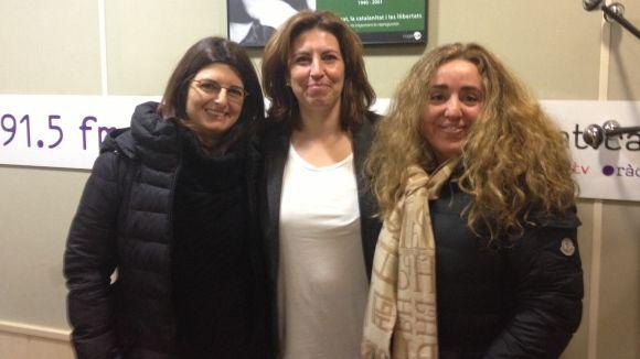 Anna Soler (Taula), Susanna Lozano (ATELCA) i Eva Garcia (Trade Center) aquest dimarts al matí al 'Sant Cugat a fons'