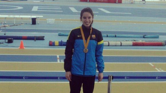 Cora Salas aconsegueix l'or al Campionat de Catalunya en salt de llargada