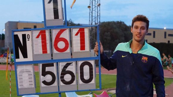 Salas obté el Campionat de Catalunya de salt de perxa i fa rècord estatal d'enguany